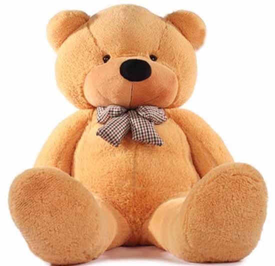 ตุ๊กตาหมีน้ำตาลอ่อนลืมตา1.2 เมตร