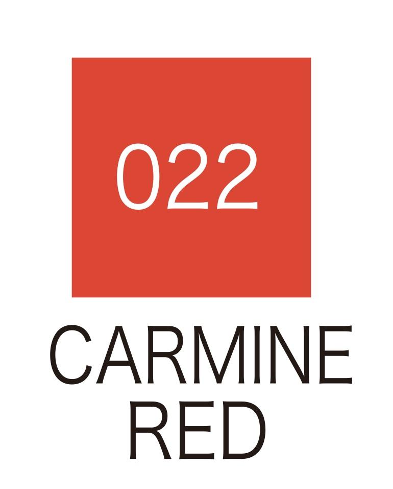 ปากกาสี 2 หัว ZIG CLEAN COLOR No.022 - Carmine Red