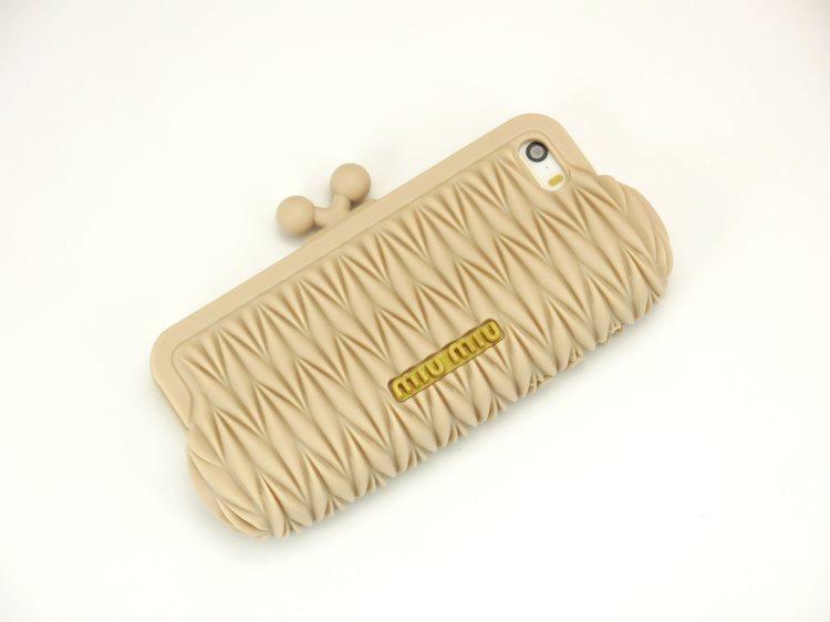 *Clearance Sale* Case iPhone 5/5s Mui Mui รูปกระเป๋าถือ น่ารัก สีเบจ