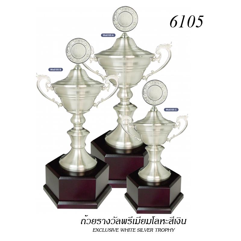 WS-6105 ถ้วยรางวัล White Silver