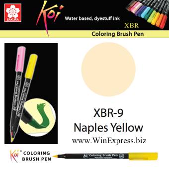 XBR-09 Naples Yellow - SAKURA Koi Brush Pen