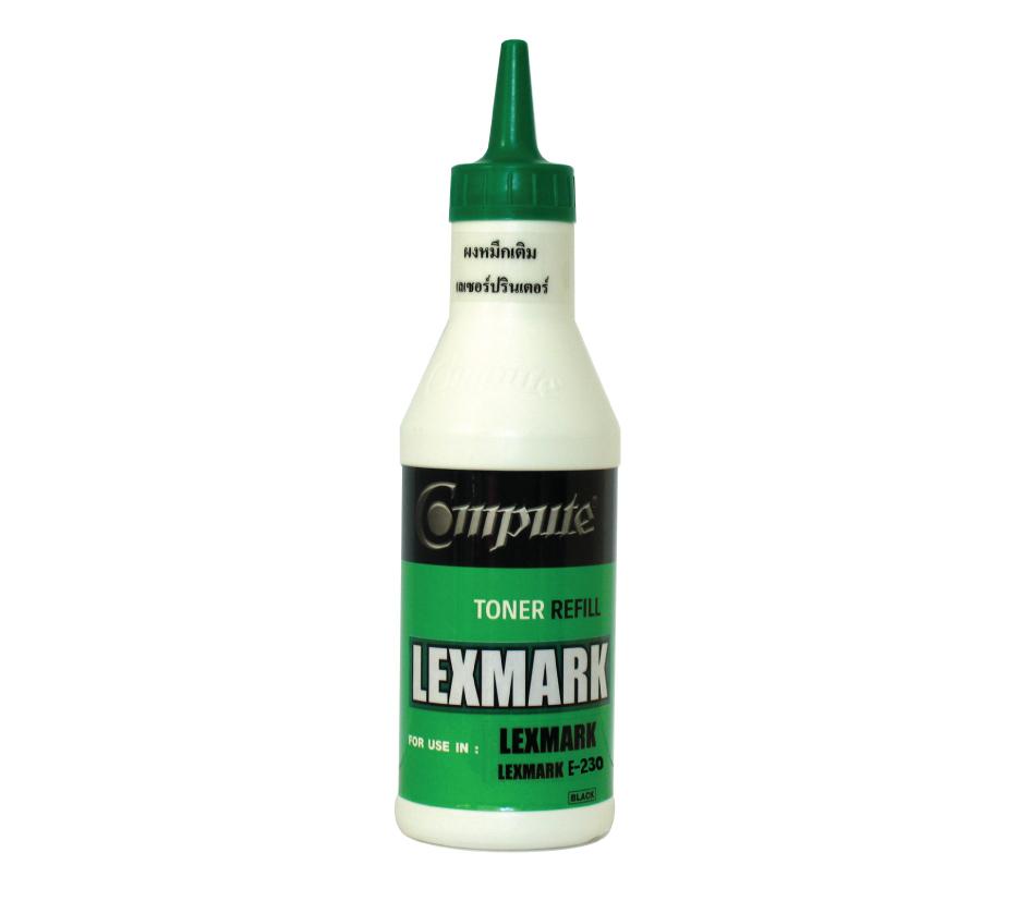 ผงหมึกเติม Lexmark E-210,230 คอมพิวท์ (Refill Toner)