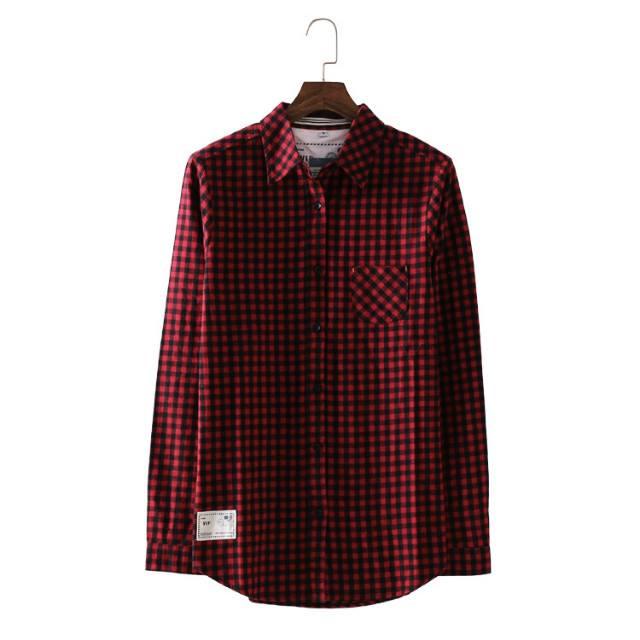 เสื้อเชิ้ตลายสก๊อต 4 สีแดง(Red)
