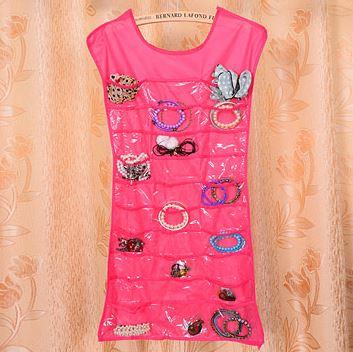 *Spacial Sale 60%* Jewelry Display Storage ที่จัดเก็บเครื่องประดับรูปเสื้อ สีชมพู