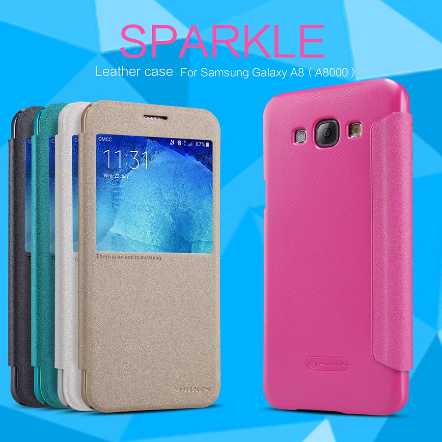 เคสฝาพับ Samsung Galaxy A8 ของ Nillkin Sparkle Leather Case
