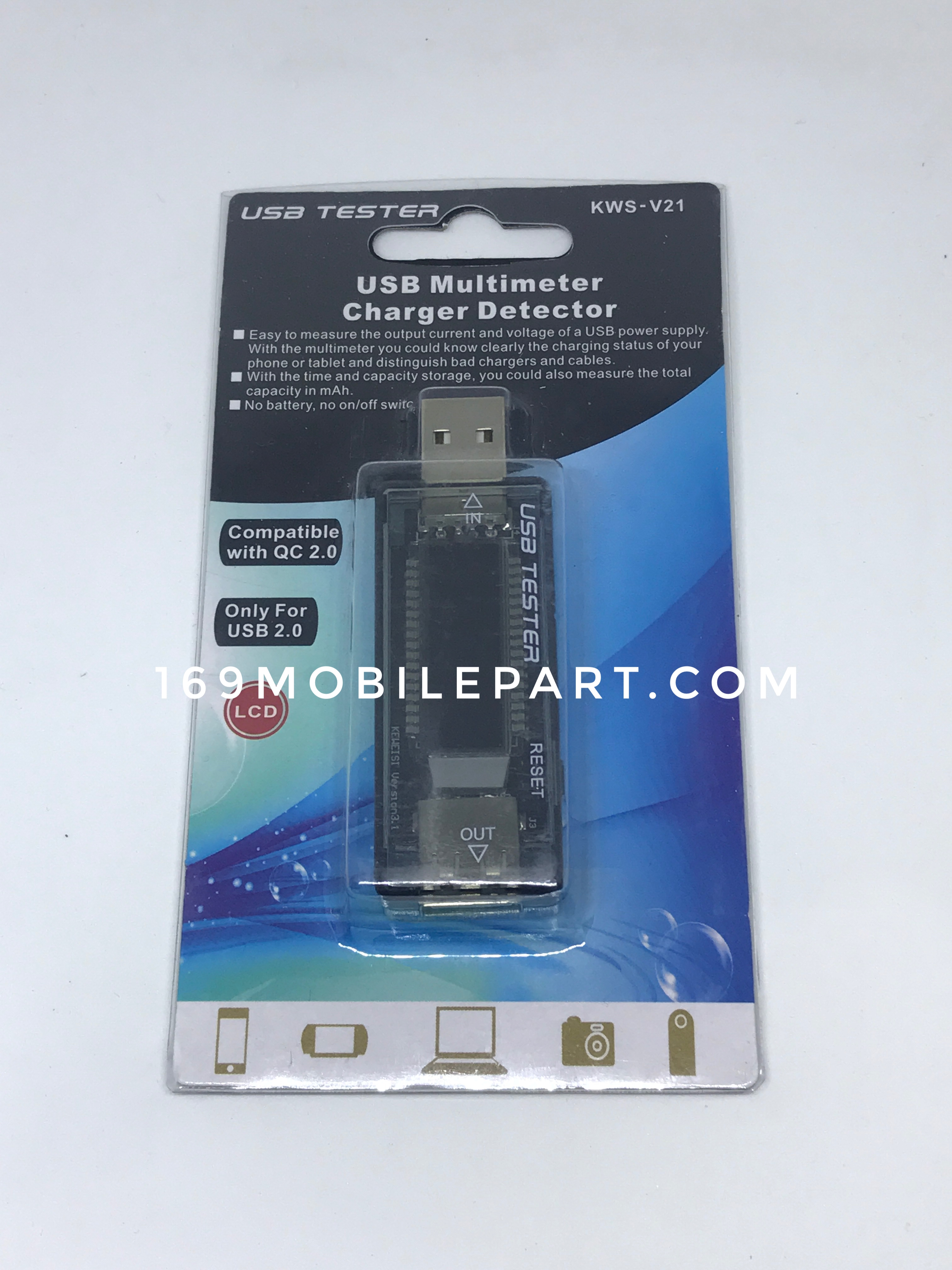 มิเตอร์เช็คสายชารจ์แท้ USB Multimeter tester