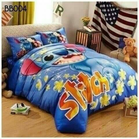 ผ้าปูที่นอน เกรดพรีเมี่ยม ลาย Stitch