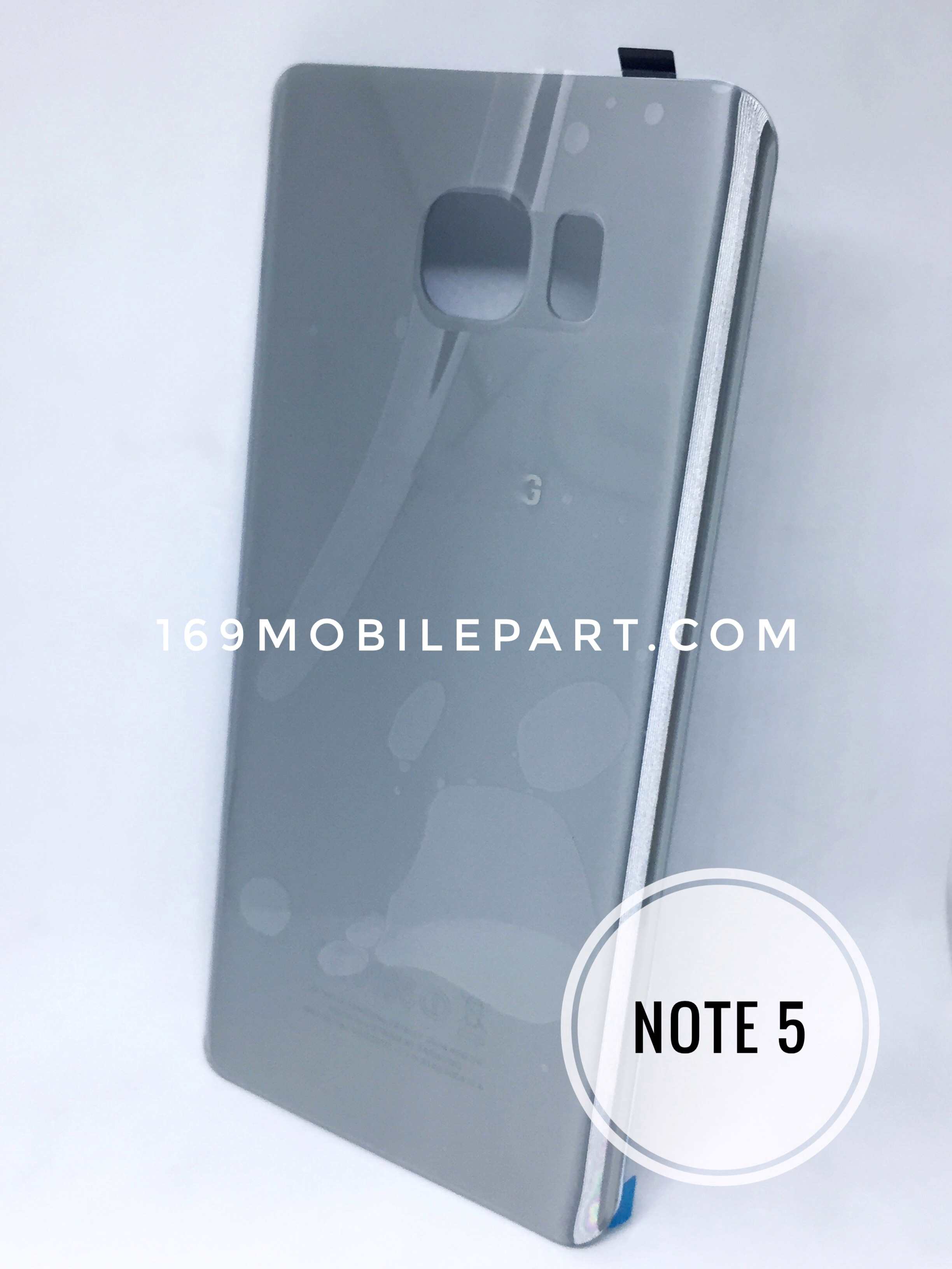ฝาหลัง Samsung Galaxy Note 5 สีเงิน Silver Platinum