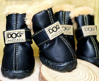 รองเท้าสุนัข รองเท้าแมว สีดำอ่อนแบบผ้ากันลื่น (4 ข้าง)
