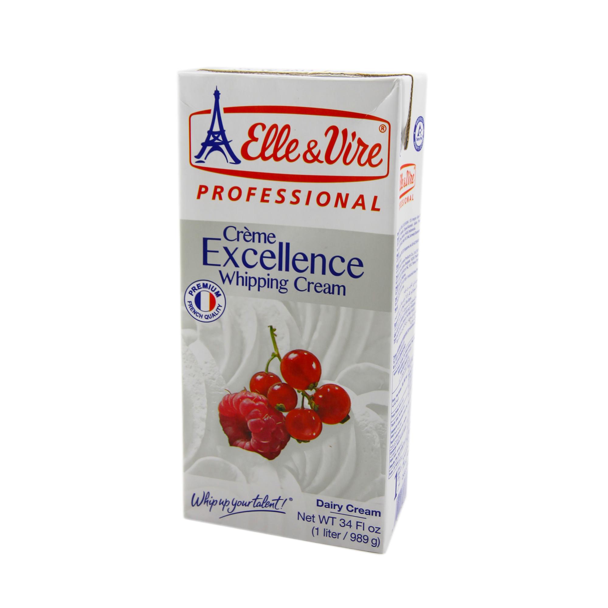 Elle&Vire วิปปิ้งครีม เดรี่ 1 L (Elle&Vire dairy wipping cream 35.1%) (ไม่จัดส่งทางไปรษณีย์)