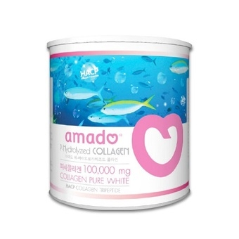 Amado p-hydrolyzed collagen 10,000 mg. อมาโด้ พี ไฮโดรไลซด์ คอลลาเจน 100g.ราคา 790บาท ส่งฟรี