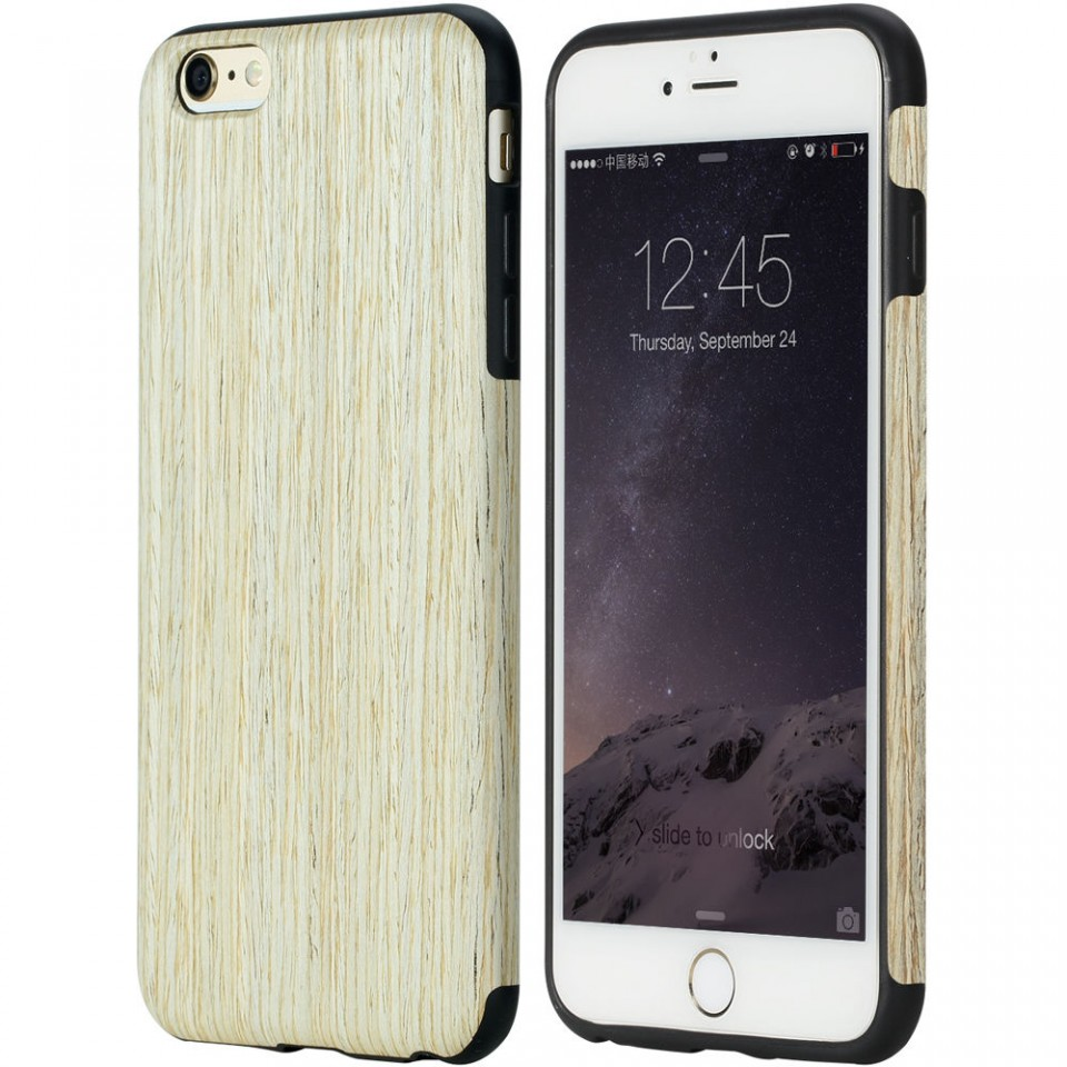 ROCK เคส iPhone 6 Plus /6S Plus TPU ลายไม้ Nordic Walnut นิ่มมือ สวยหรู ส่งฟรี