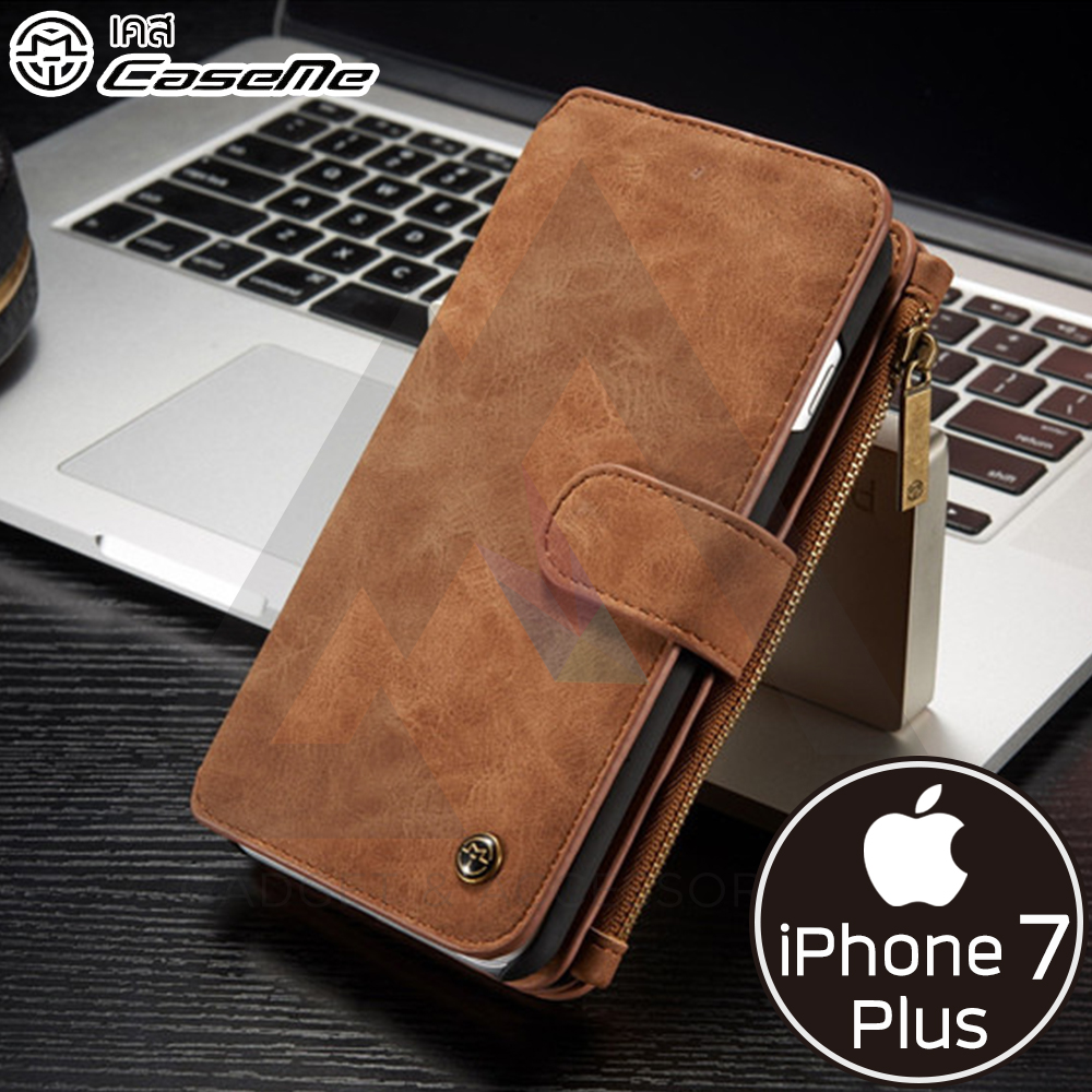 CaseMe Leather - กระเป๋าเคสหนังแท้ iPhone 7 Plus