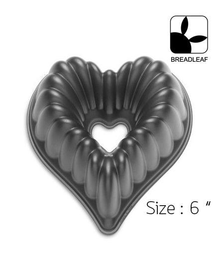 6 Inch Heart Bundt Pan /พิมพ์อลูมิเนียม หัวใจมีรูตรงกลาง