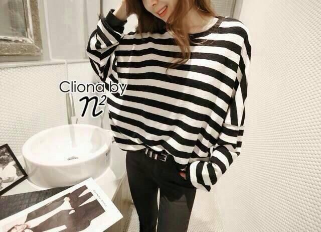 Cliona's made, Autum stripe Oversize Sweater Knit