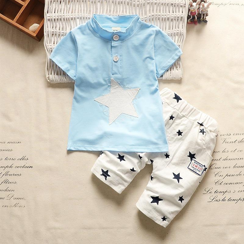 **ชุดเซ็ตกางเกงสีขาวฟ้ารูป Start size = 6-8-10-12 (4 pcs/pack) | 4ชุด/แพ๊ค | เฉลี่ย 200/ชุด
