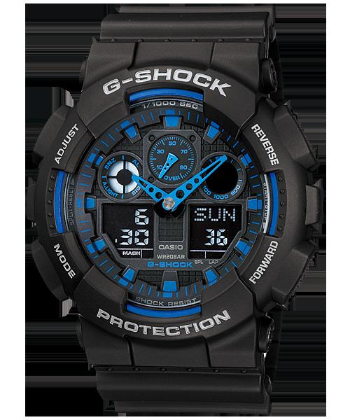 นาฬิกา คาสิโอ Casio G-Shock Standard Analog-Digital รุ่น GA-100-1A2 สินค้าใหม่ ของแท้ ราคาถูก พร้อมใบรับประกัน