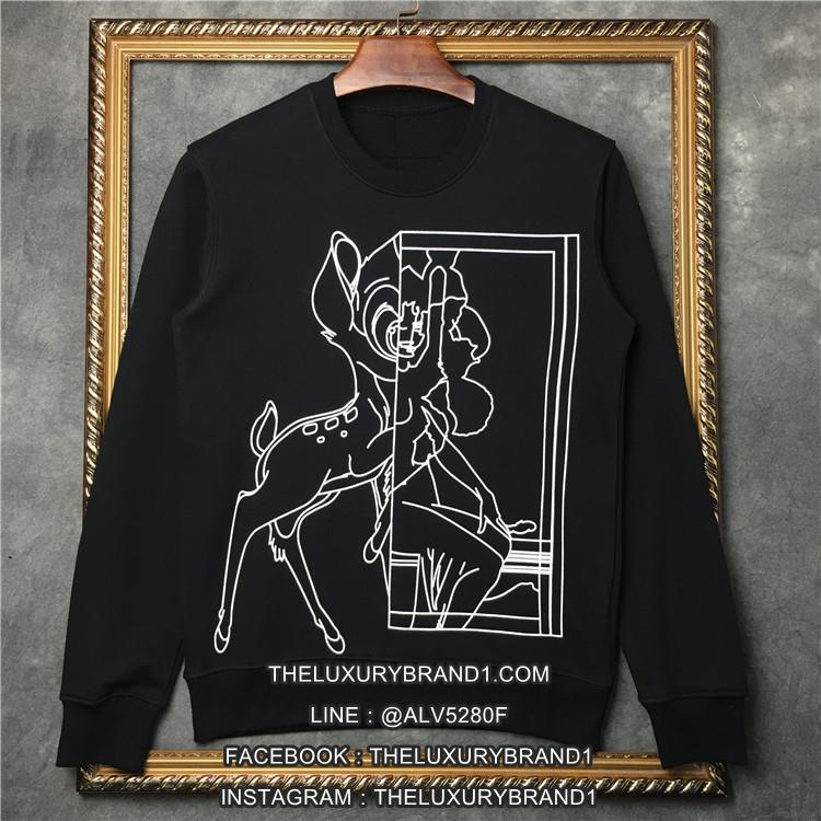 เสื้อแขนยาว Givenchy Bambi Stencil Print สีดำ 1