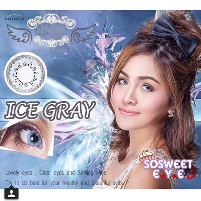 Ice Gray Dreamcolor1 คอนแทคเลนส์ ขายส่งคอนแทคเลนส์ Bigeyeเกาหลี ขายส่งตลับคอนแทคเลนส์