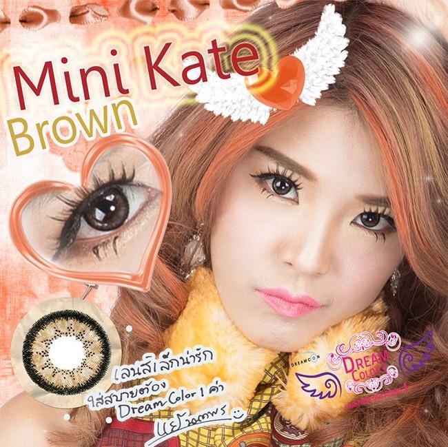 Mini Kate Brown Dreamcolor1 คอนแทคเลนส์ ขายส่งคอนแทคเลนส์ Bigeyeเกาหลี