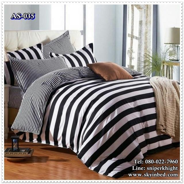 ผ้าปูที่นอนสไตล์โมเดิร์น เกรด A ขนาด 6 ฟุต(5 ชิ้น)[AS-035]