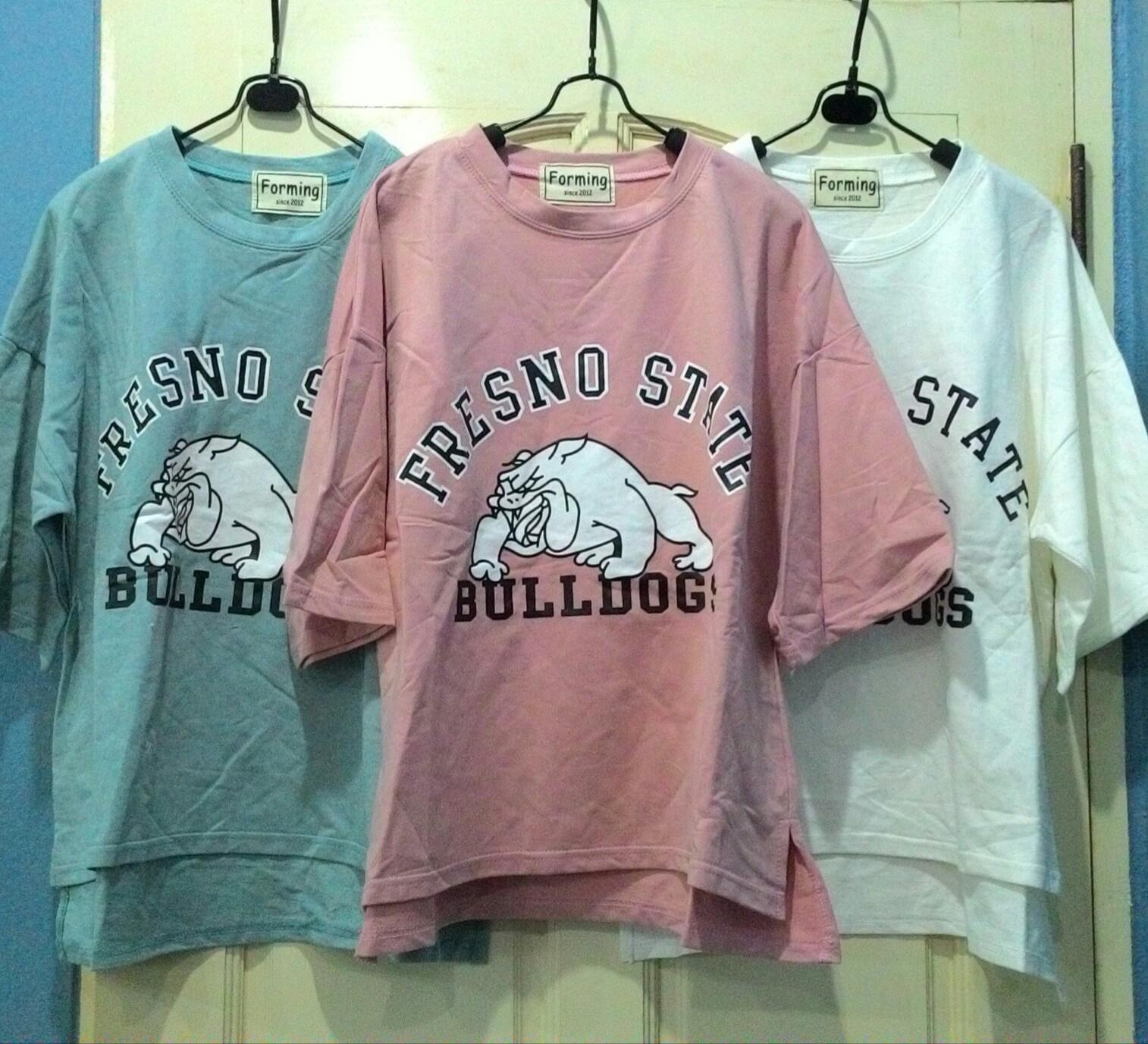 เสื้อยืดผ้านิ่ม สกรีนลาย Bulldog