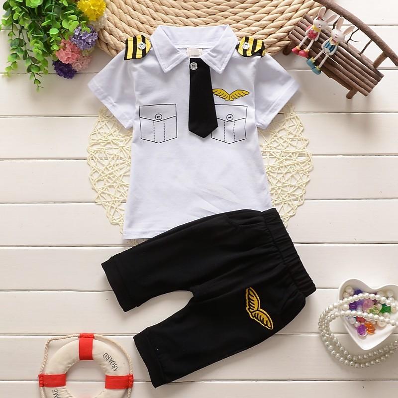 **ชุดเซ็ตเสื้อกัปตันสีขาว size=6-8-10-12 (4 pcs/pack)   4ชุด/แพ๊ค   เฉลี่ย 200/ชุด