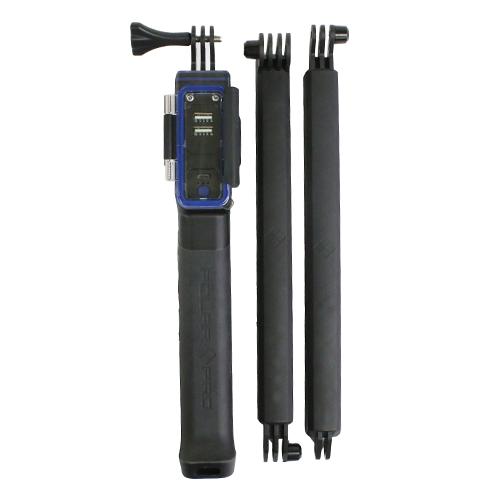 POWERGRIP H20-WATERPROOF GOPRO BATTERY SYSTEM 6700mAh ยาว 9.5 inch Grip // 22 inch Pole // 33 inch