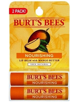 BURT'S BEES :: Burt's bee Nourishing Lip Balm with Mango Butter - 2 pack บำรุง ปกป้องคืนความเรียบเนียนให้ริมฝีปากคุณ ด้วย เนยมะม่วง