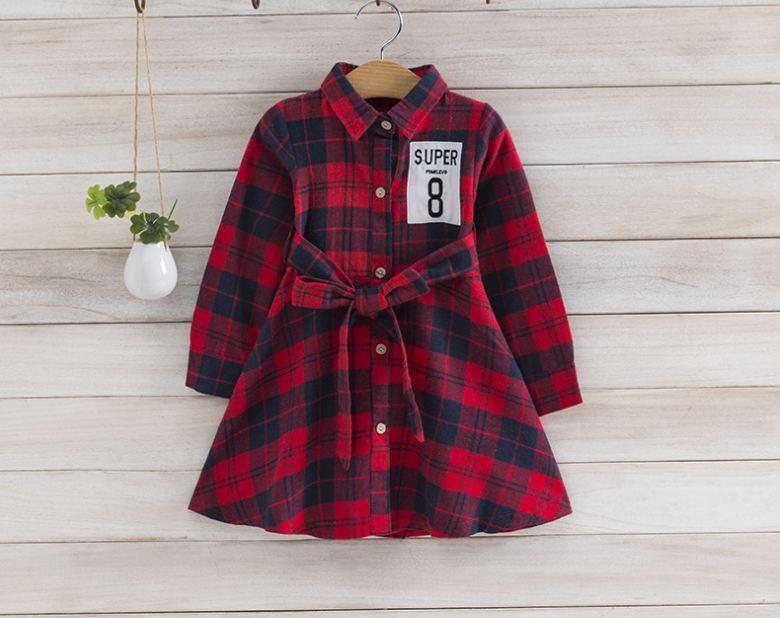 **เดรสลายสก็อตสีแดง super 8 ตามรูป size:100-140 | 5ชุด/แพ๊ค | เฉลี่ย 250/ชุด