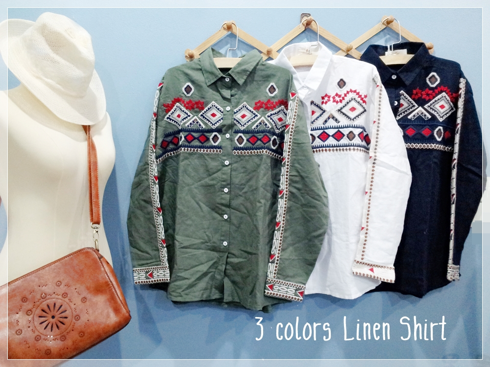 Cool Cowboy Shirt Linen 3 colors.