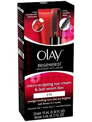OLAY :: Olay Regenerist Micro-Sculpting Eye Cream And Lash Serum Duo ครีมบำรุงรอบดวงตา (สูตร USA) มาพร้อมเซรั่มบำรุงขนตา