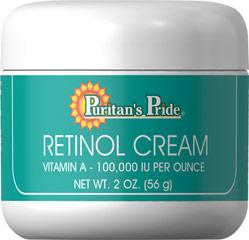 ลด 25 % PURITAN'S PRIDE :: Retinol Cream (Vitamin A 100,000 IU Per Ounce) วิตามินเอเข้มข้น ช่วยลดเลือนริ้วรอย ให้ความชุ่มชื้น