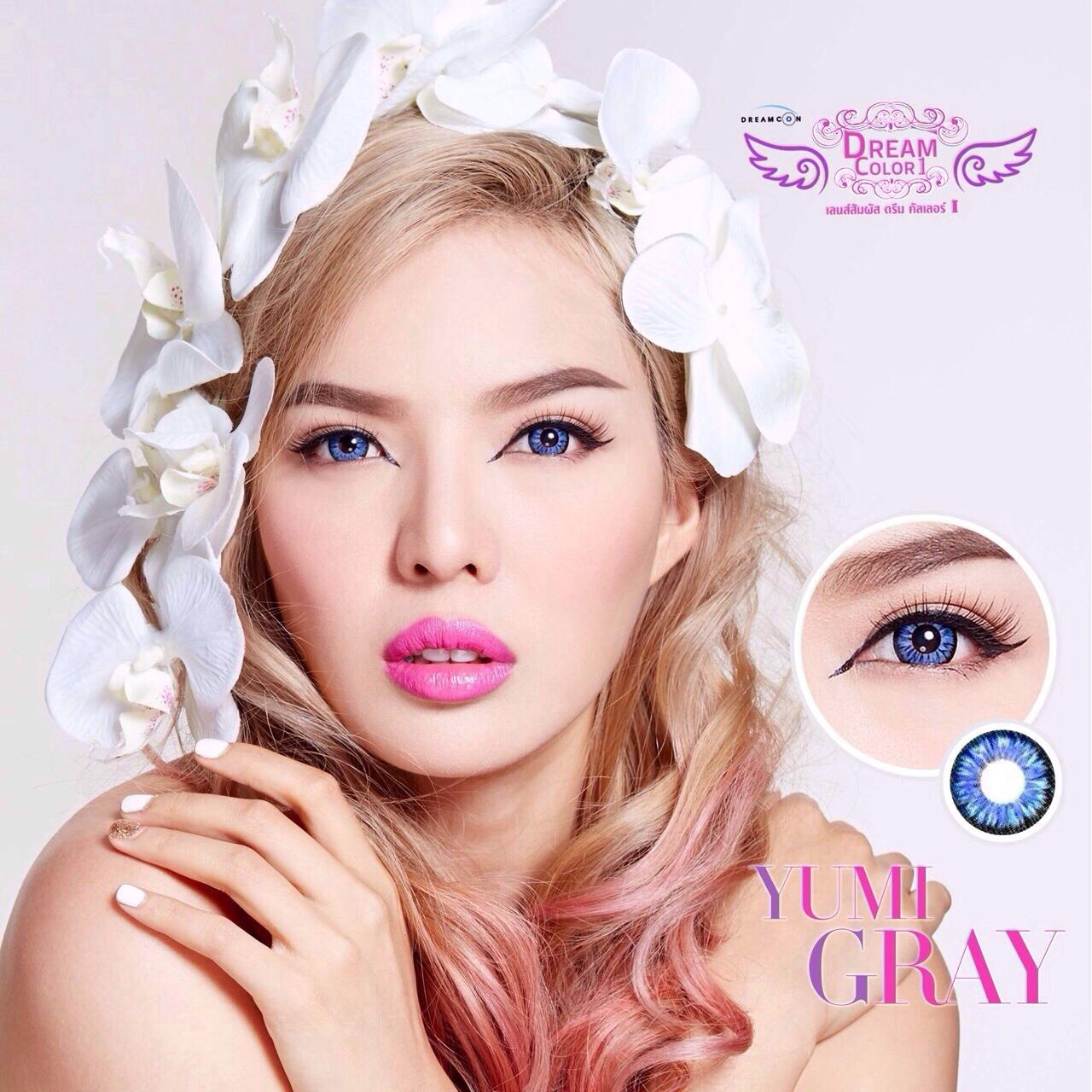 Yumi Gray Dreamcolor1 คอนแทคเลนส์ ขายส่งคอนแทคเลนส์ Bigeyeเกาหลี ขายส่งตลับคอนแทคเลนส์ ขายส่งน้ำยาล้างคอนแทคเลนส์