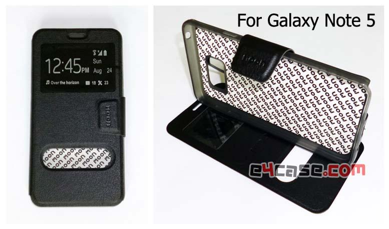 เคส Galaxy Note 5 (Samsung N920C) - moon เคสพับโชว์เบอร์