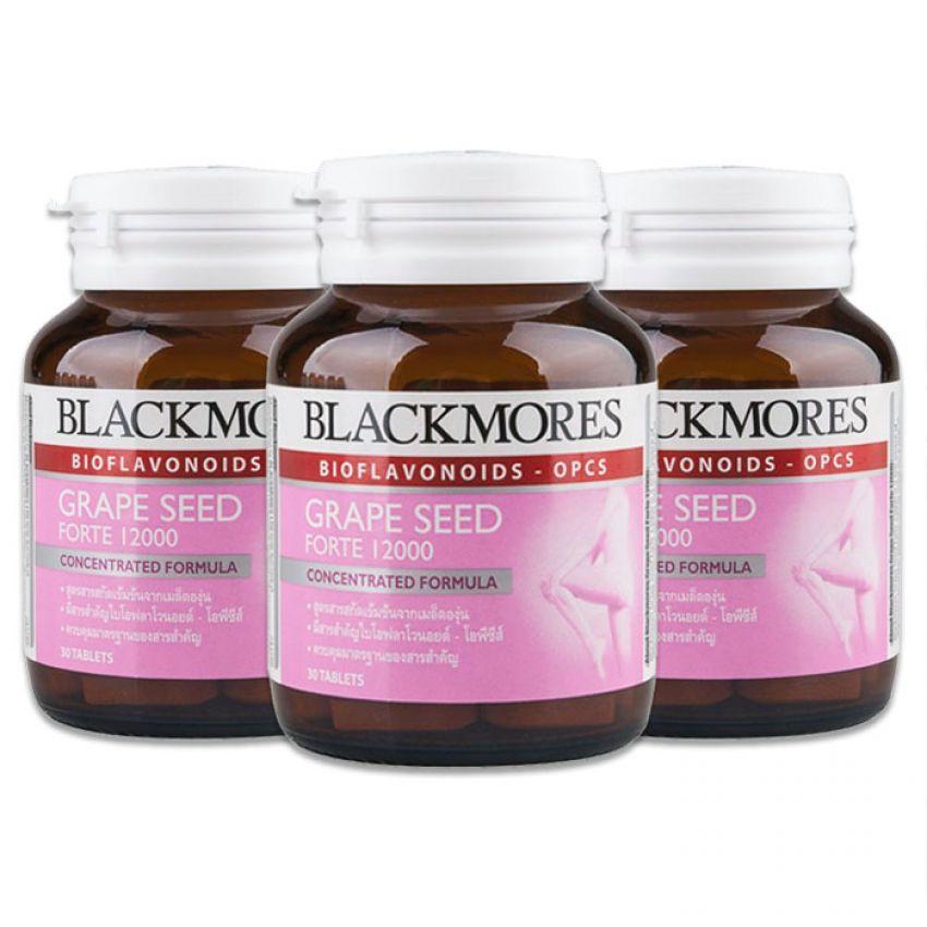 Blackmores Grape Seed Forte 12000mg. 30 tablets แบลคมอร์ส เกรปซีด ฟอร์ท 12000 มก. 30 เม็ด