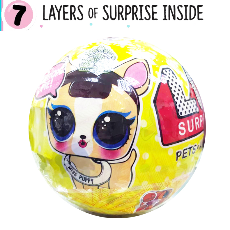 LO039 (งานเทียบ) L.O. L.SURPRISE Pets r (ตุ๊กตาเซอร์ไพร์ส 7 ชั้น)