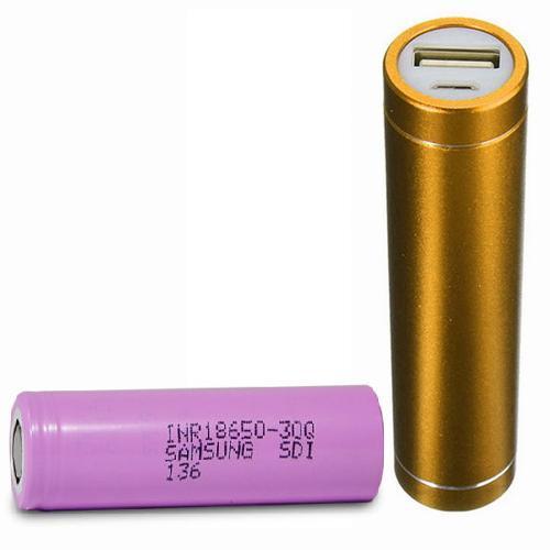External Battery Charger 5V USB+ฺBattery 18650 (2600 mAh) (Power Bank)