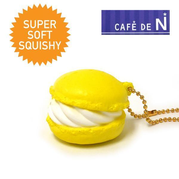 CA639 สกุชชี่ cafe de N Super Soft Squishy Sweets Ball Chain (Citron) ขนาด 5 cm ลิขสิทธ์แท้