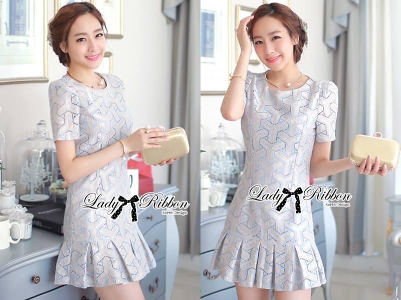 DR-LR-114 Lady Corey Sweet Mixed Print Ruffle Dress