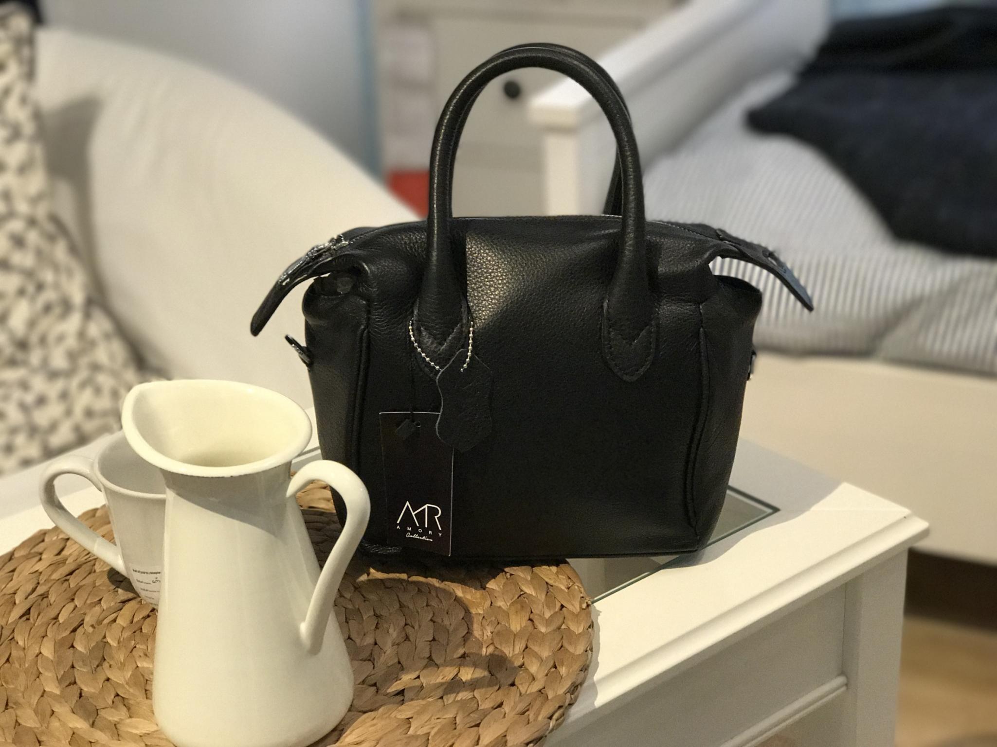 กระเป๋า Amory Leather Bag Mini Bowling Classic Black Limited Edittion