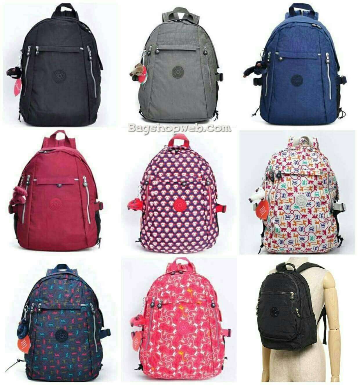 กระเป๋าเป้ KIPLING NYLON CLASSIC BACKPACK กระเป๋าสะพายเป้ใบใหญ่สไตล์ลำลองวัสดุ Nylon + Polyester 100%