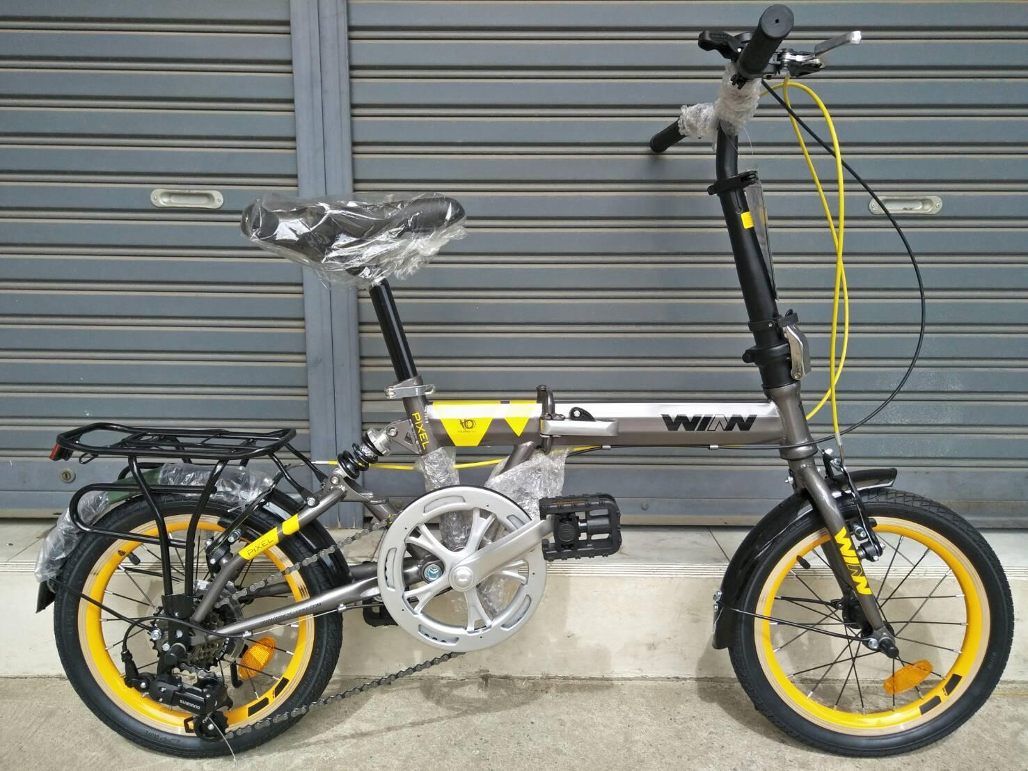 จักรยานพับ Winn รุ่น Pixel ล้อขนาด 16 นิ้ว เฟรมเหล็ก เกียร์ Shimano 6 Speed