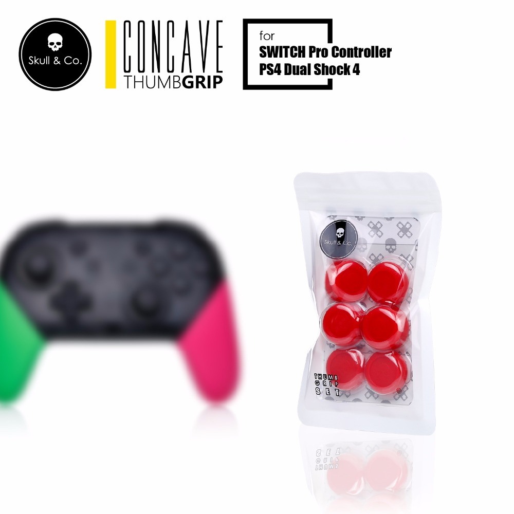 PS4/JOY-PRO Skull & Co. Thumb Grip Set [ฺRed] ราคา 350.-