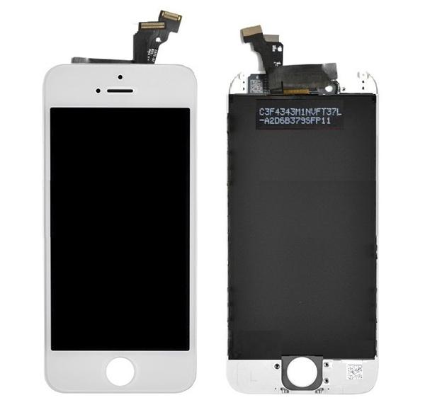 ราคาหน้าจองานแท้+ทัชสกรีน iPHONE 5s สีขาว อะไหล่เปลี่ยนหน้าจอแตก ซ่อมจอเสีย