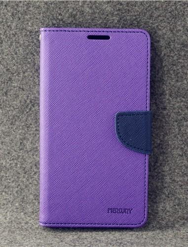 เคส asus zenfone 3 max 5.2 zc520tl ฝาพับ ฝาปิด mercury fancy diary case สีม่วง-น้ำเงิน