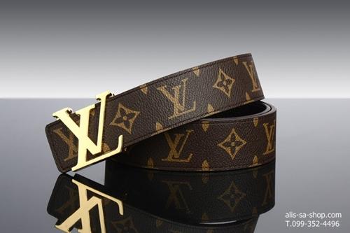 เข็มขัด Louis Vuitton ลายโมโนแกรม : เกรดพรีเมี่ยม สีน้ำตาล
