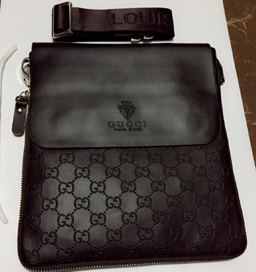 กระเป๋า Gucci สะพายข้าง ซิปรอบข้าง เกรดพรีเมียม สีน้ำตาล