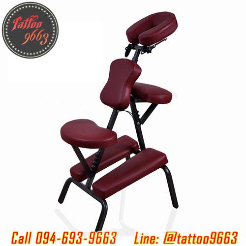 เก้าอี้สักลาย เก้าอี้นั่งสัก เก้าอี้พับได้ เก้าอี้พกพา สำหรับการสัก นวด สปา Foldable Portable Massage Tattoo Spa Chair (สีแดง RED)