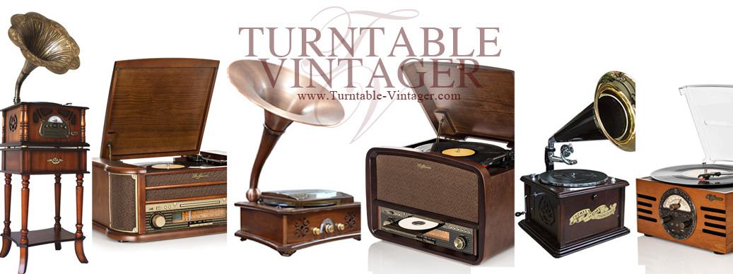 เครื่องเล่นแผ่นเสียง เครื่องเสียงสไตล์วินเทจ Turntable Vintager